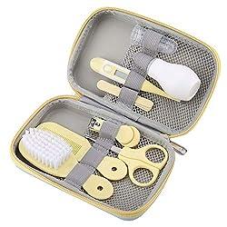 FAMKIT Baby Health Care Kit, 8Pcs Baby Nail Clipper Set Scissors Hair Brush Comb Manicure Care Set