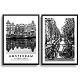 MONOKO® Wohnzimmer Poster Set - Premium Bilder Set für