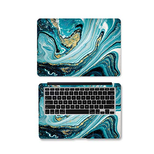 Peach-Girl Wm-003-13-Inch Self-Adhesive Laptop Sticker with Marble Design for Macbook/HP/Acer/Dell/AUS/Lenovo
