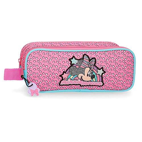 Disney Minnie Pink Vibes Trousse double compartiment...