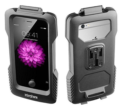 Cellular Line Interphone Fahrradhalterung passgenau für Ihr Apple iPhone 6, Motorradhalterung, Handy Halter für Ihr Bike - wasserdicht, Querformat & Hochformat - schwarz