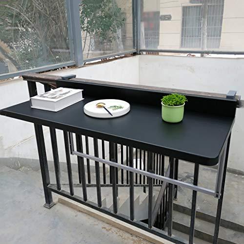 Mesa De Bar con Balcón, Mesa Colgante Plegable Interior para Exterior Mesa De Barandilla con Balcón Colgante De Aleación De Aluminio Barra Moderna para El Hogar (tamaños: 80 * 40 Cm)