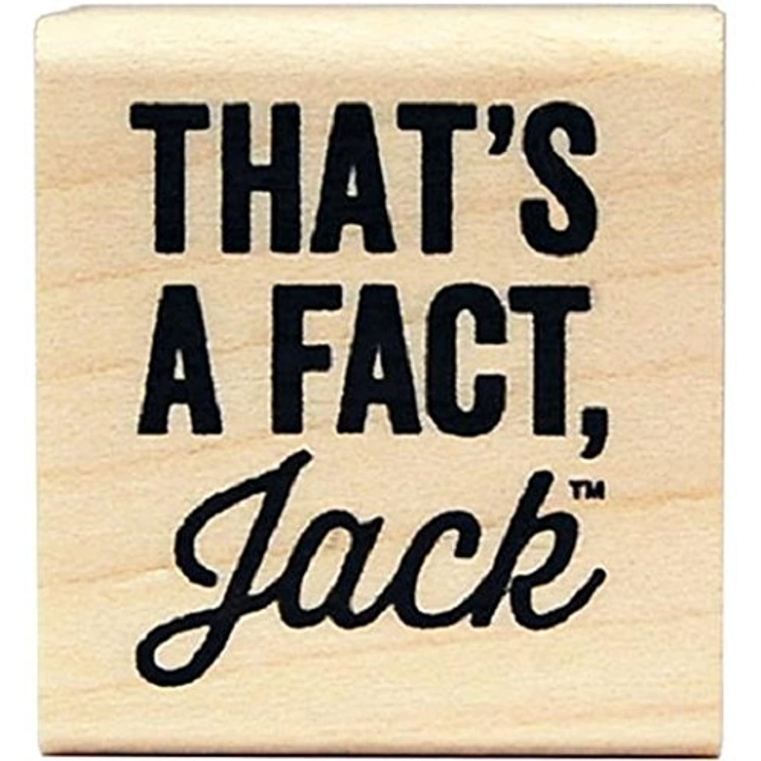 KellyCraft Innovations DC-50049 Duck Commander That's a Fact Jack Wood Mount Stamp