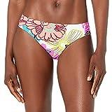 Trina Turk Women's Standard Shirred Side Hipster Pant Bikini Swimsuit Bottom, Pink//Radiant Blooms, 14