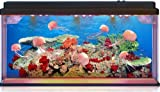 Playlearn Jelly Fish / Sea Turtle Aquarium Mood Lamp With LED Lights 3D Backing - Fantastic Gift