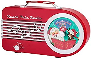 Mr. Christmas 79428 North Pole Radio Holiday Decorations, One Size, Red