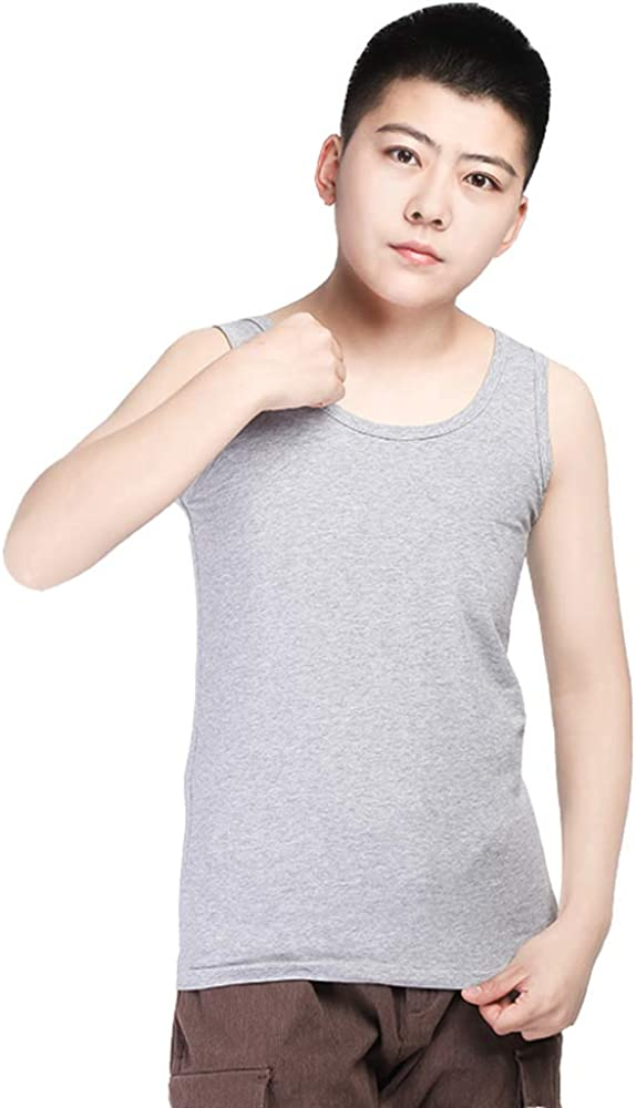 BaronHong Chest Binder Cotton Vest Tank Top for Tomboy Lesbian Can be Worn Alone