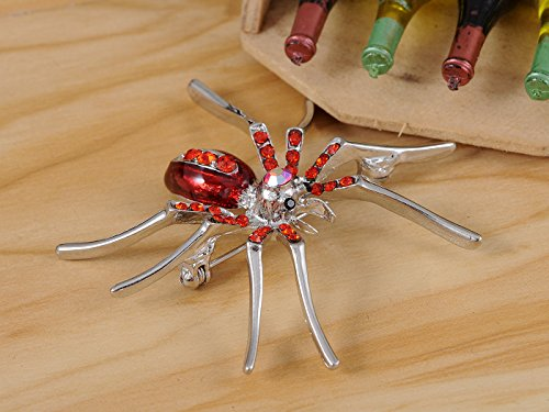 Alilang Enamel Crystal Rhinestone Halloween Spider Fashion Jewelry Pin Brooch 5