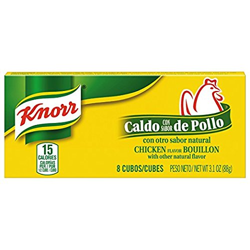 Knorr Chicken Flavor Bouillon (2-PACKAGES) (8-CUBES PER PACKAGE) (NET WT 3.1 OZ EACH)