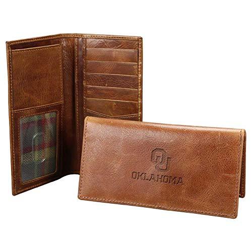 Carolina Sewn Men's University of Oklahoma Sooners Leather Secretary Pocket Wallet