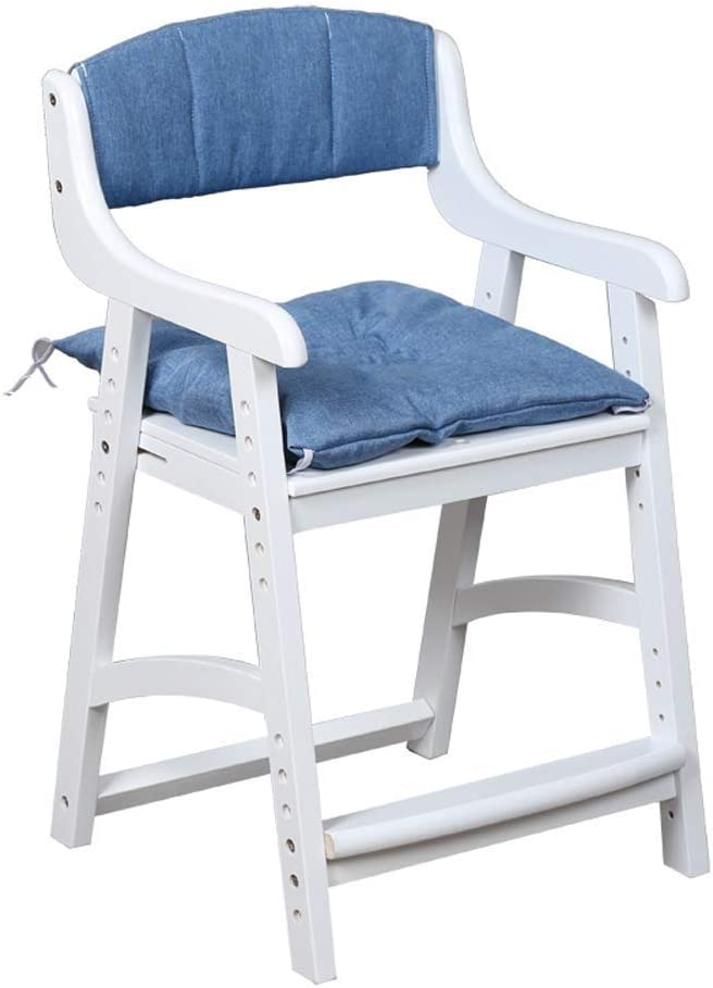 Solid 5 ☆ very popular Wood Study Chair Thick Regular store Children's P Durable