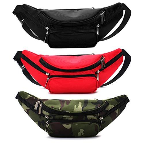 Freshsell Running Belt Bum Taille Pouch Hip Fanny Travel Pack Sport Joggen Fietstas, One siza, Zwart