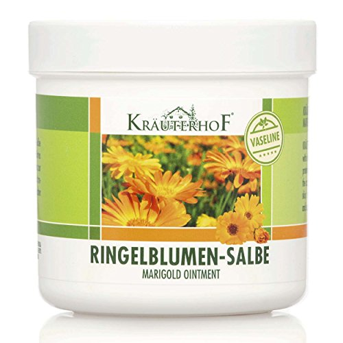 Kräuterhof Ringelblumen-Salbe mit Vaseline 250ml, 2er Pack