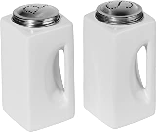 Oggi Salt and Pepper Shakers in White