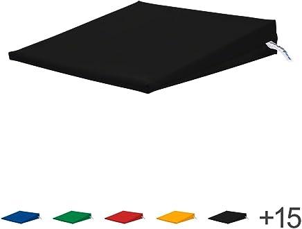 Sitty/® PremiumLine Keilkissen PU 75130 40x40x8 cm insigniablau
