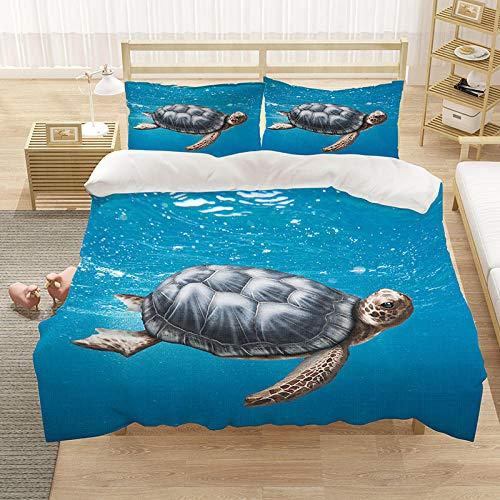 Bedclothes-Blanket Cubierta de la Colcha de Cama Cubierta de la Colcha de impresión 3D (con la Abertura y Cierre de la Cremallera), 3 Piezas (1 Cubierta de colchas + 2 pillowcasas)-1_180 * 210cm