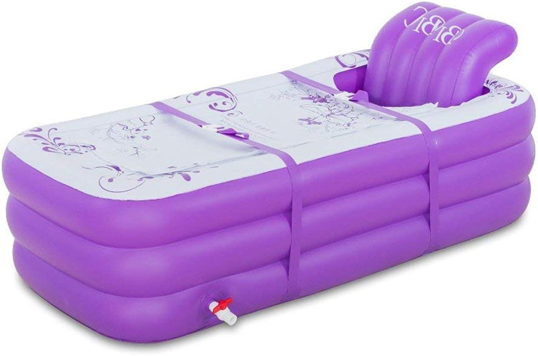 Inflatable Bath Home Aufblasbare Badewanne Home Warm Plastic Folding Badewanne Liegende Badewanne (Farbe  Lila, Gre  165 cm)