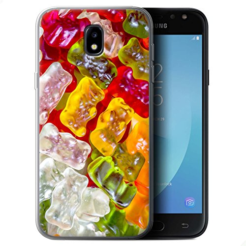 Stuff4® Gel TPU hoes/case voor Samsung Galaxy J7 2017/J730 / gummibeer patroon/zoetwaren collectie