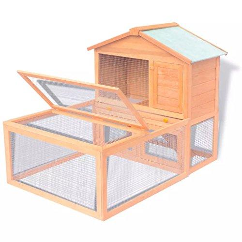 Xinglieu Cage d'extérieur en bois pour lapin 2 étages