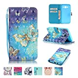 Galaxy J5 2015 Case, Firefish Kickstand Flip [Card Slots] Wallet Cover Double Layer Bumper Shell with Magnetic Closure Strap Protective Case for Samsung Galaxy J5 2015