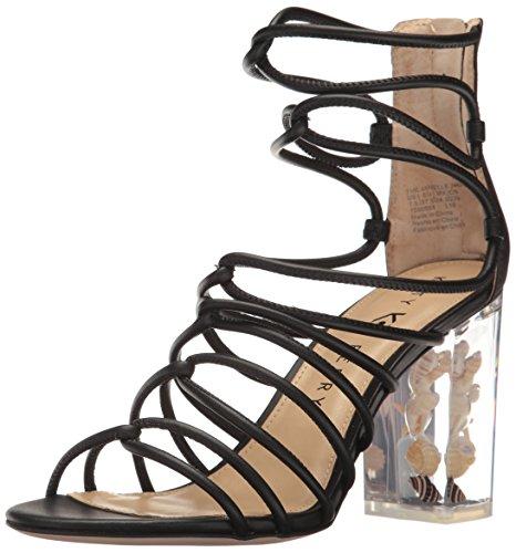Katy Perry Women's The Janelle Heeled Sandal, Black, 7 Medium US