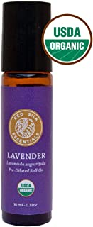 Organic Lavender Essential Oil, 100% Pure USDA Certified Organic Lavandula Angustifolia - 10ml Pre-diluted Roll-on