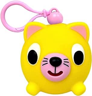 Oshaberi Doubutsu Talking Animal Ball Borukuma Stress Ball - Key Chain Clip - Yellow Cat