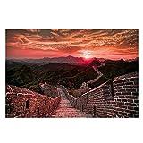 Suuyar Chinesische Mauer Von China Poster Sonnenuntergang
