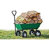 WerkaPro 10946 - Chariot remorque de Jardin - 52 litres - Jusqu'à 120 Kg -...