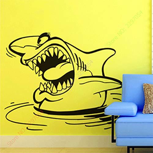 CDNY Squalo murale Rimovibile Art plex 56x77 cm Rimovibile in Vinile PVC da 560 mm * 775 mm