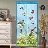 La nueva cortina mágica de puerta de malla captura magnéticamente insectos voladores e insectos A1 W100xH210