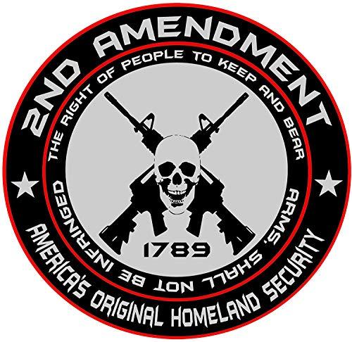 2nd Amendment - America's Original Homeland Security Round Bumper Sticker Decal