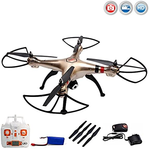 X8HC PRO - 4.5-Kanal ferngesteuerter XXL Quadrocopter 3D Drohne mit HD-Kamera optional mit WIFI Live-übertragung-Set erWeißrbar, H nbarometer und vieles mehr,Mega-Set Crash-Kit