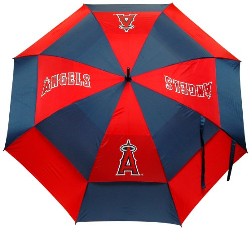 """Price comparison product image Team Golf MLB Los Angeles Angels 62"""" Golf Umbrella with Protective Sheath,  Double Canopy Wind Protection Design,  Auto Open Button"""