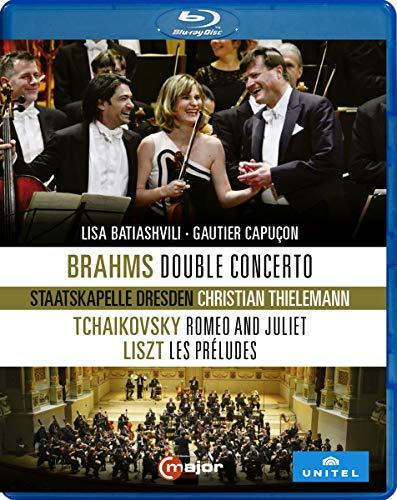 Brahms, Tchakovski, Liszt : uvres pour Violon, Violoncelle et Orchestre. Batiashvili, Capuçon, Thielemann. [Blu-Ray]