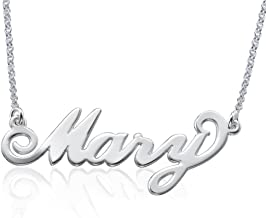 Personalized Name Necklace in 925 Sterling Silver - Custom Made Pendant with Any Name! Gift for Her
