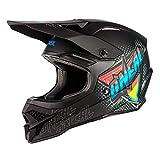 O'NEAL   Casco de Motocross   MX Enduro   Shell ABS, Cumple con el estándar de Seguridad ECE 22.05, Airflaps™ Compatible   Casco 3SRS Speedmetal   Adultos   Negro Multi   Talla XL