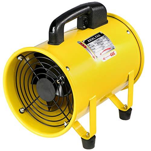 Mophorn Ventilador Portátil Ventilador de Ventilación Portátil 8 Pulgadas Ventilador Utilitario Max.1500M³/H Perfecto para Áreas Como Fábricas, Lofts y Sótanos