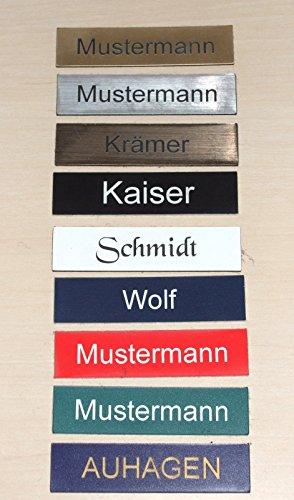 1 Stueck-Klingelschild selbstklebend MADE IN GERMANY -Tuerschild-Namensschild-Briefkastenschild-mit-Gravur