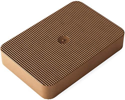 INNONEXXT® Premium Unterlegplatten | 60 x 40 mm, 10 mm braun - 100 Stk. | Abstandshalter, Plättchen aus Kunststoff, Distanzplatten, Klötze, Unterlegklotz, Distanzhalter | Tragfähigkeit bis 5 t