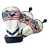 lahomia 3Pcs Golf Wood Driver Headcover Golfista Club Cover Protector Drivers Cubiertas