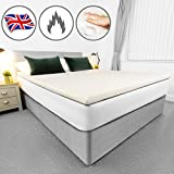 AviiatoR® 5cm Memory Foam Mattress Topper Double Bed, Made In The UK, Double