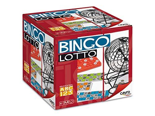 Cayro - Bingo Lotto - Juego Tradicional - Bingo con Bombo - Lotería - Juego de Mesa (300)