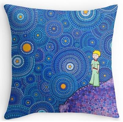 UK-Jewelry Funda de almohada con cremallera para el hogar de The Cosmic Little Prince de 45,7 x 45,7 cm