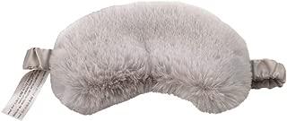 EleCharm New Faux Fur Patch Eye Mask Nap Eye Cover Soft Satin Back Sleeping Blinder (Grey)