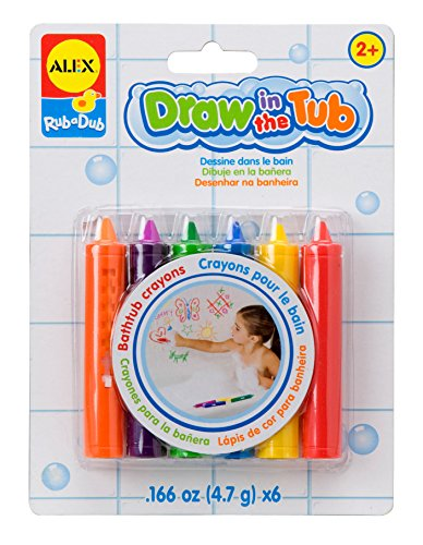 Alex Rub a Dub Draw in the Tub Crayons Kids Bath Activity