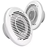 Magnadyne WR85W MARINE WATERPROOF 6 1/2 INCH 2-WAY SPEAKER (Sold as a pair in white)