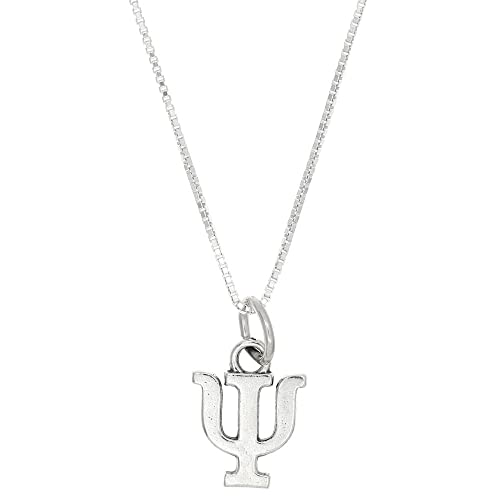 greek letter sorority charms amazon Small RV Trailers sterling silver oxidized psi greek sorority letter charm with box chain necklace