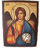 Icône chrétienne peinte à la main de l'archange Michael Angel