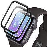 NLOEE Protector Pantalla para Apple Watch 40mm Series 6/5/4/SE, [2 Pack] Cristal Templado Protector para iWatch 6/5/4/SE, Dureza 9H, 3D Cobertura Completa, No Burbujas